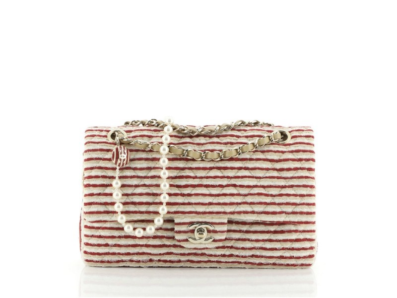 Chanel Coco Sailor Flap Bag Quilted Jersey Medium