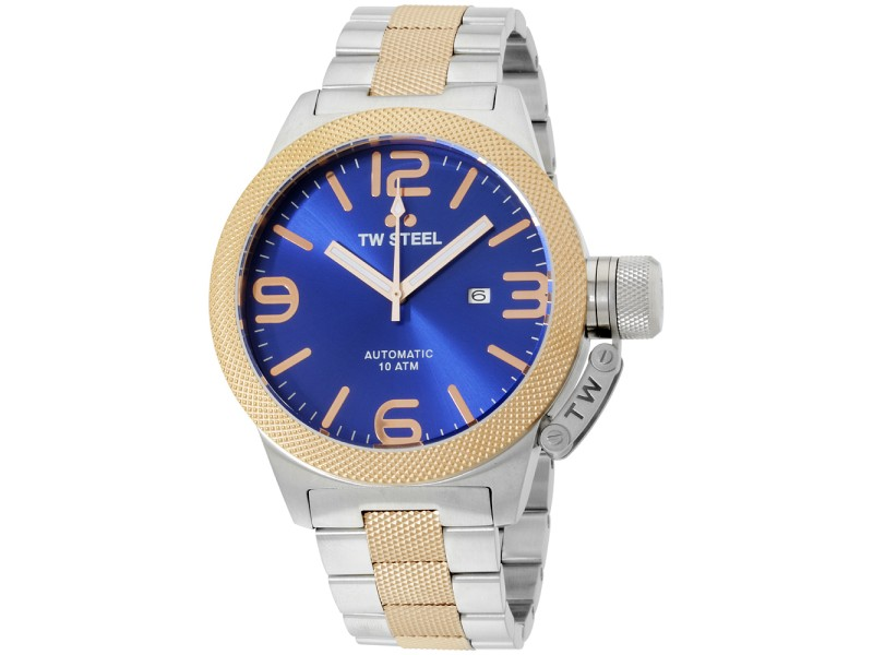5c2cfe6b6 TW Steel Canteen CB146 Two-Tone Stainless Steel and Gold Tone Automatic 50mm  Mens Watch