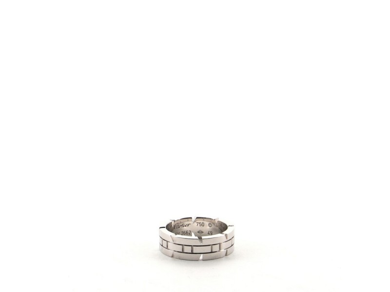 Cartier Tank Francaise Band Ring 18K White Gold