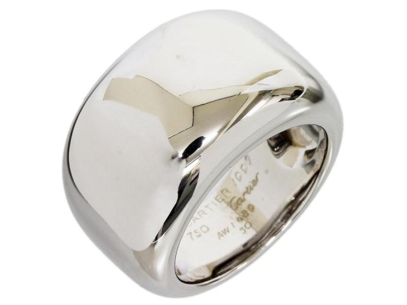 Cartier 18K White Gold Nouvelle Vague Ring Size 5.25