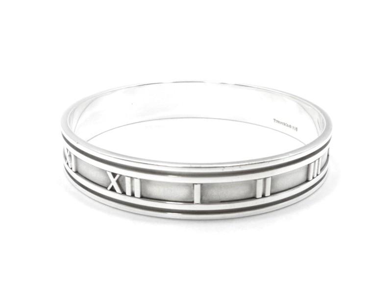 Tiffany & Co. Silver Atlas Wide Bangle Bracelet
