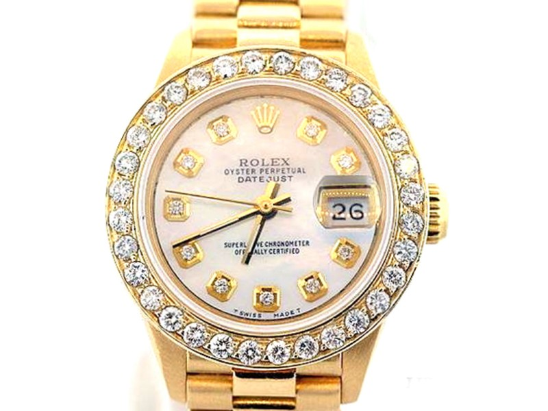 Rolex Datejust Presidential Diamond 18K Yellow Gold 26mm Watch