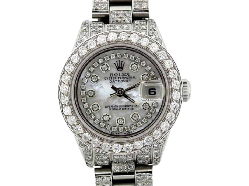 Rolex Datejust Stailess Seel and Diamond Ladies Watch