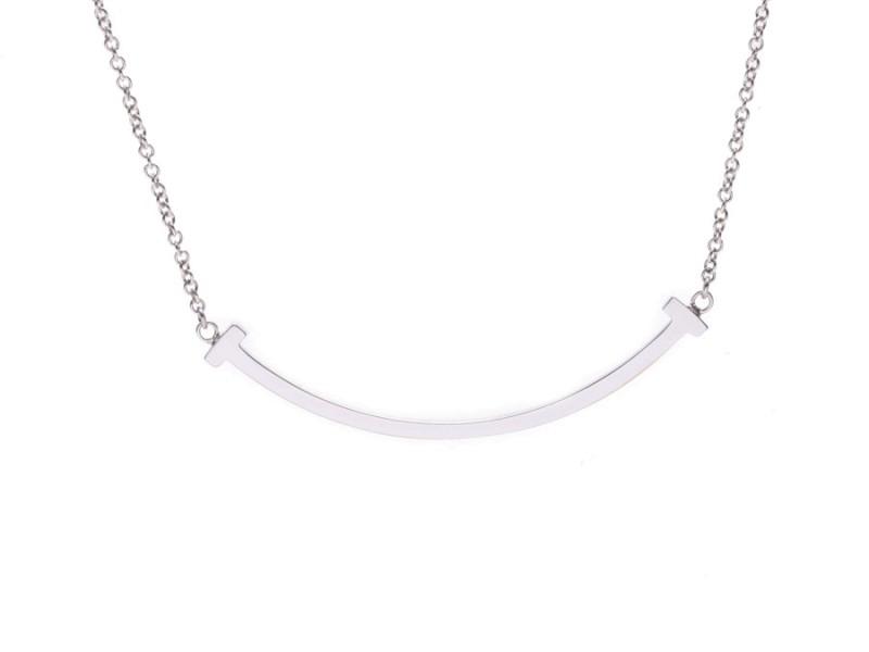 2c52b3112 Tiffany & Co. 18K White Gold T Smile Necklace | Tiffany & Co. | Buy ...