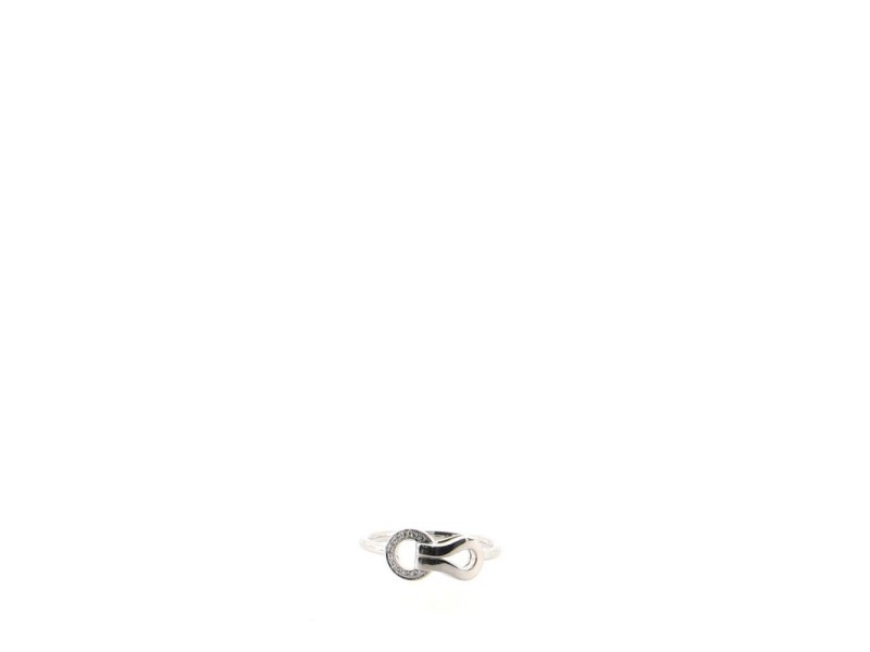 Cartier Agrafe Ring 18K White Gold with Diamonds