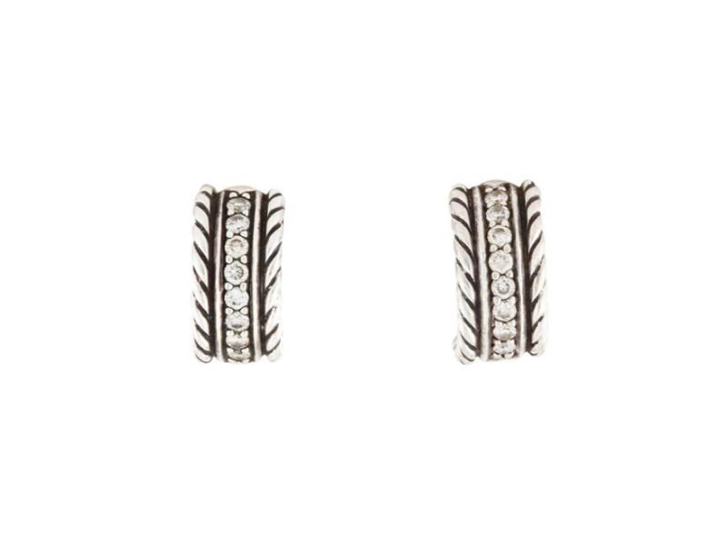 David Yurman Cable Classics Extra Small Earrings with Diamonds