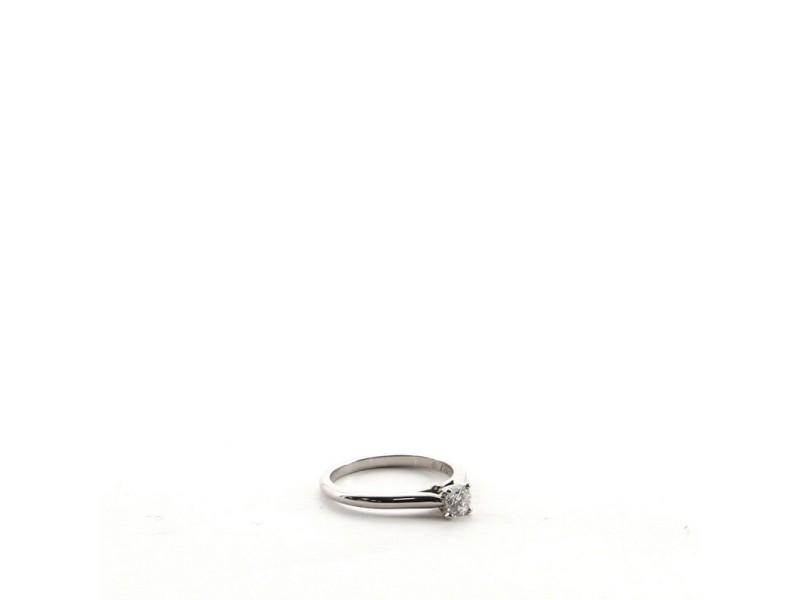Cartier Round Brilliant Cut Diamond F VS1 Ring Platinum .26CT