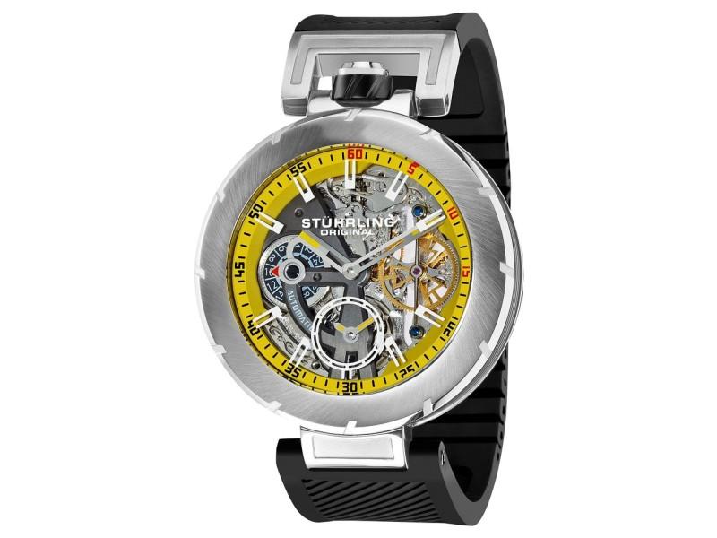 Stuhrling Emperor Vortex 324.331665 Stainless Steel & Rubber 49mm Watch