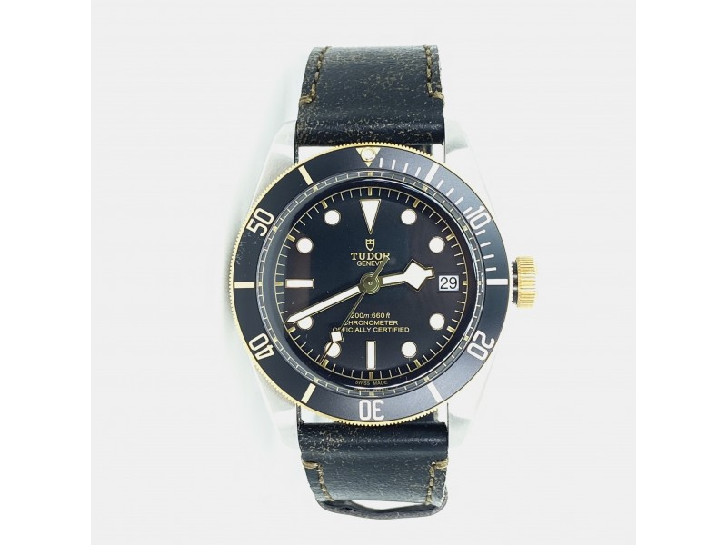 Brand New Tudor 41mm Heritage Black Bay Steel & Gold Watch Reference 79733N