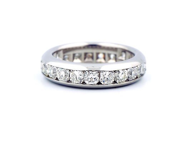 Tiffany & Co. Lucida Platinum 2.31 Ct Diamond Eternity Band Ring Size 9.25
