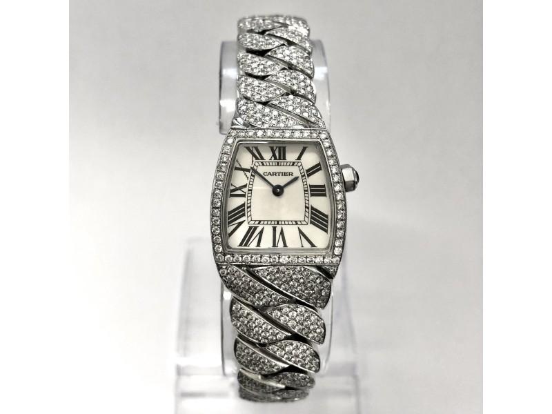 CARTIER LA DONA Quartz Steel Diamond Ladies Watch