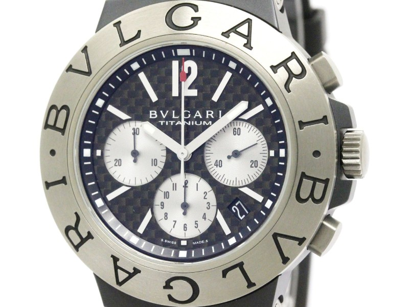 Bulgari Diagono TI44TACH Chronograph Titanium 44mm Mens Watch