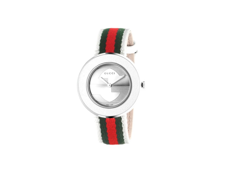 Gucci U-Play Stainless Steel & Canvas 35mm Watch