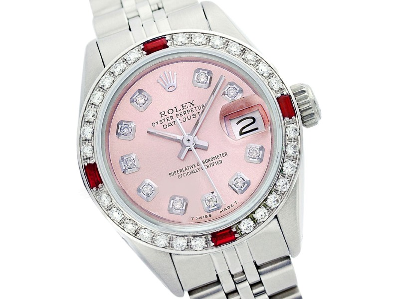Rolex Datejust 6917 Pink Diamond Ruby 26mm Watch