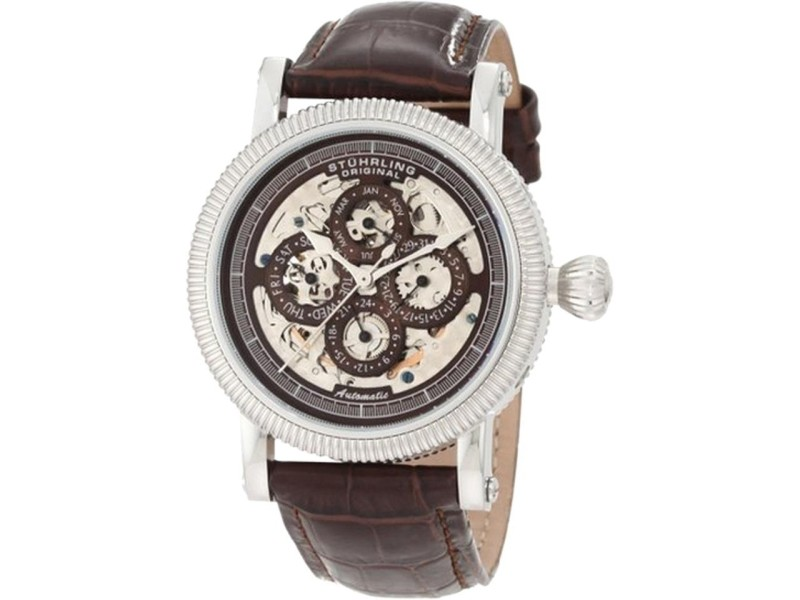 Stuhrling Symphony Maestro II 150A.3315K59 Stainless Steel & Leather 42mm Watch
