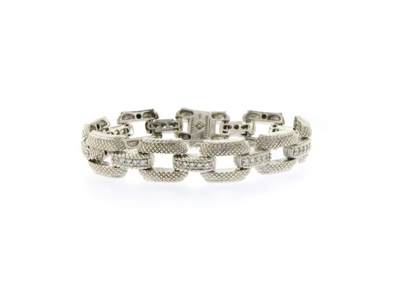 Judith Ripka 925 Sterling Silver Cubic Zirconia Bracelet