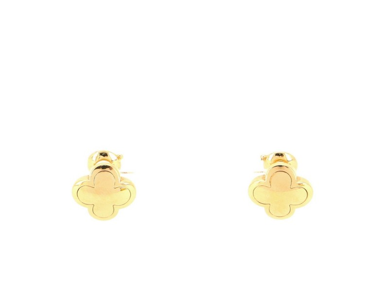 Van Cleef & Arpels Pure Alhambra Clip-On Earrings 18K Yellow Gold