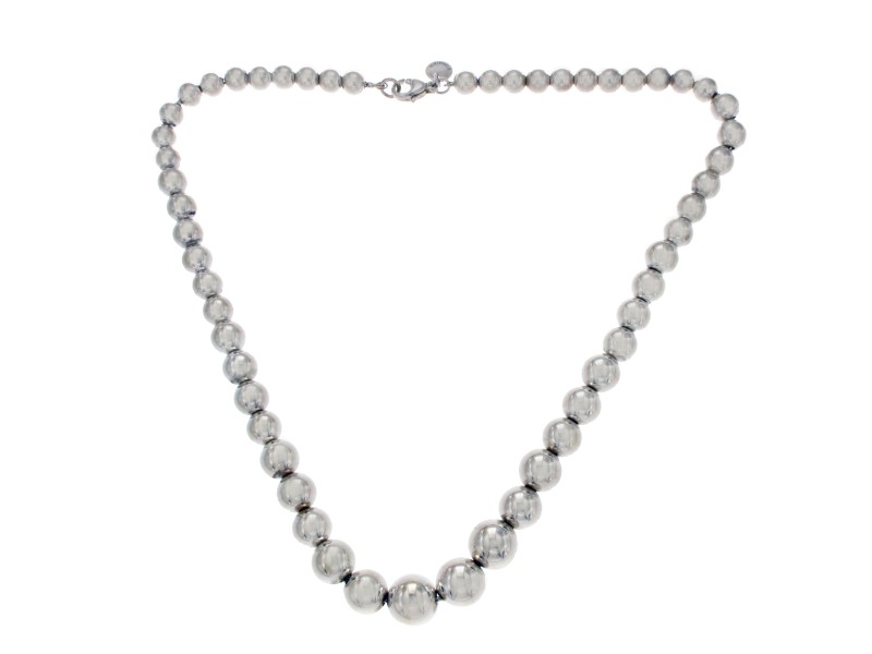 Tiffany & Co. 925 Sterling Silver Ball Bead Necklace