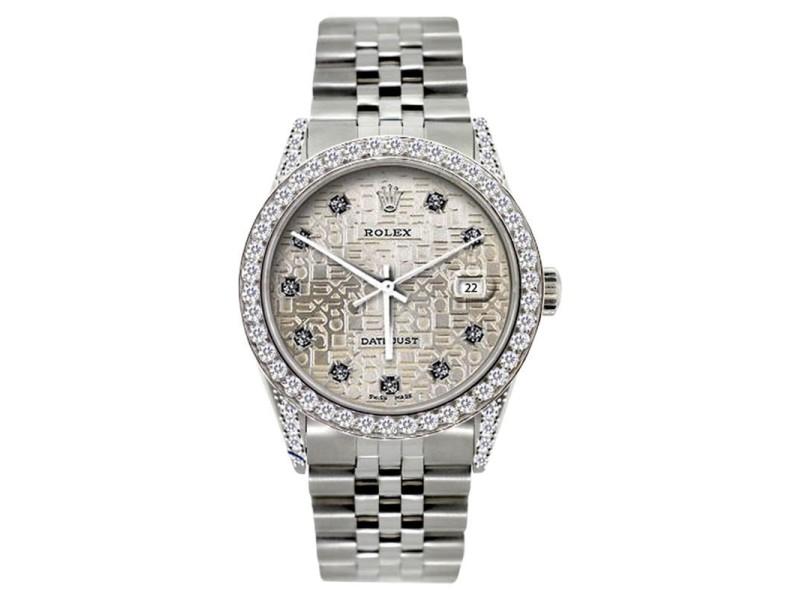 Rolex Datejust 5ct Diamond 36mm Watch