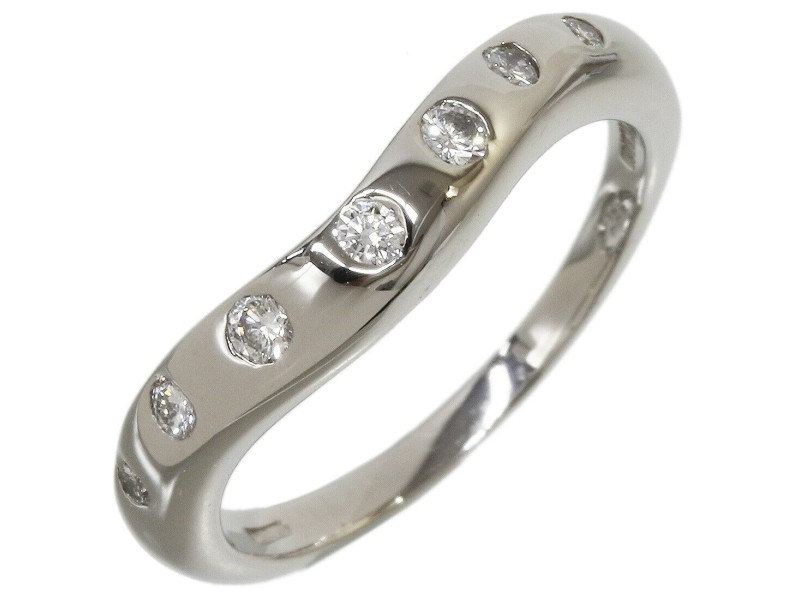 Bvlgari Bulgari CORONA 7P Diamonds Band Ring Pt950 US4.25