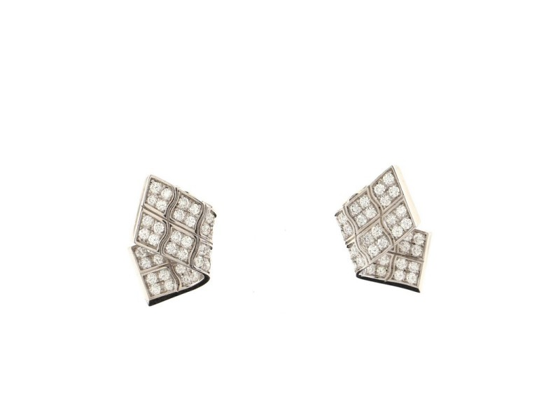 Piaget Stardust Earrings 18K White Gold and Diamonds