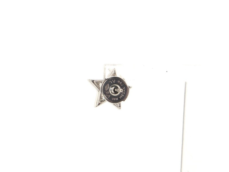 Chanel Comete Geode Star Stud Earrings 18K White Gold with Diamonds Small