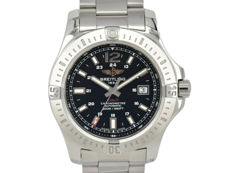 BREITLING Colt Date A17388 black Dial Automatic Men's Watch