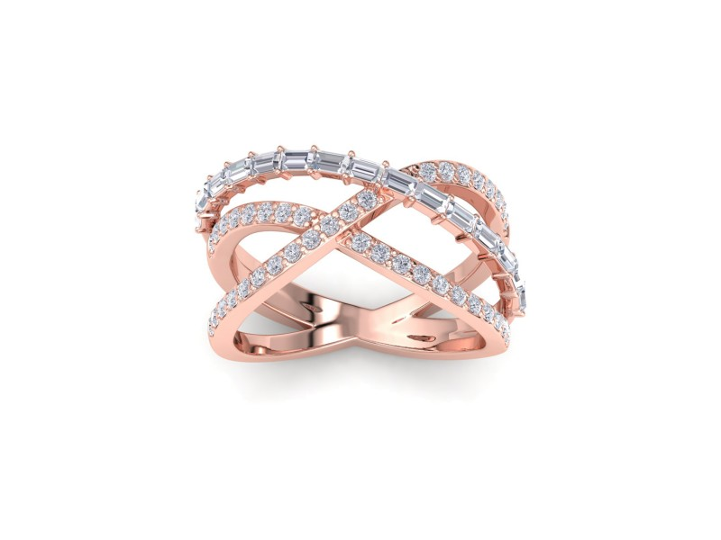 GLAM ® Ring In 18K Gold with 1.07ct White Diamonds