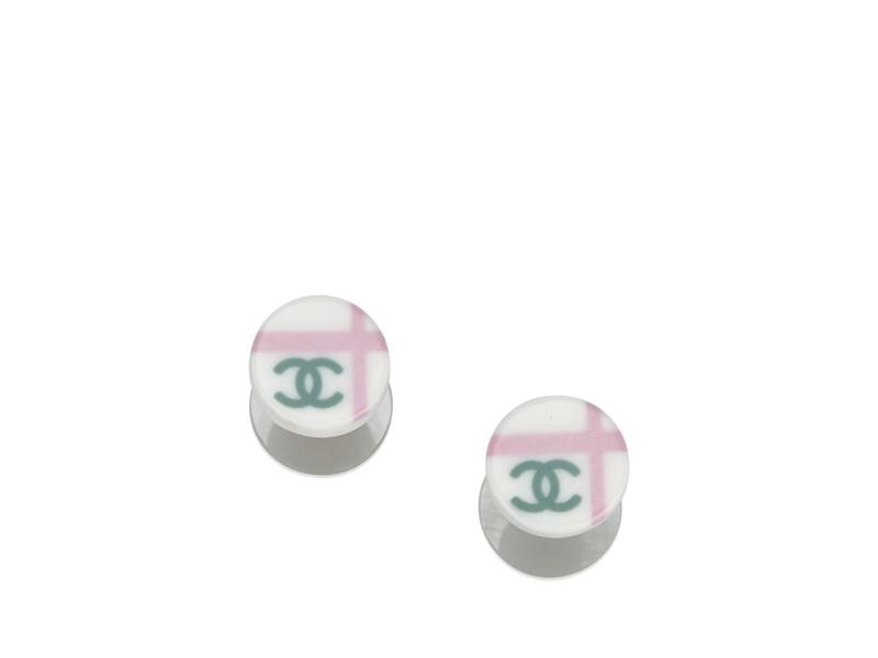 Chanel CC Push Back Earrings