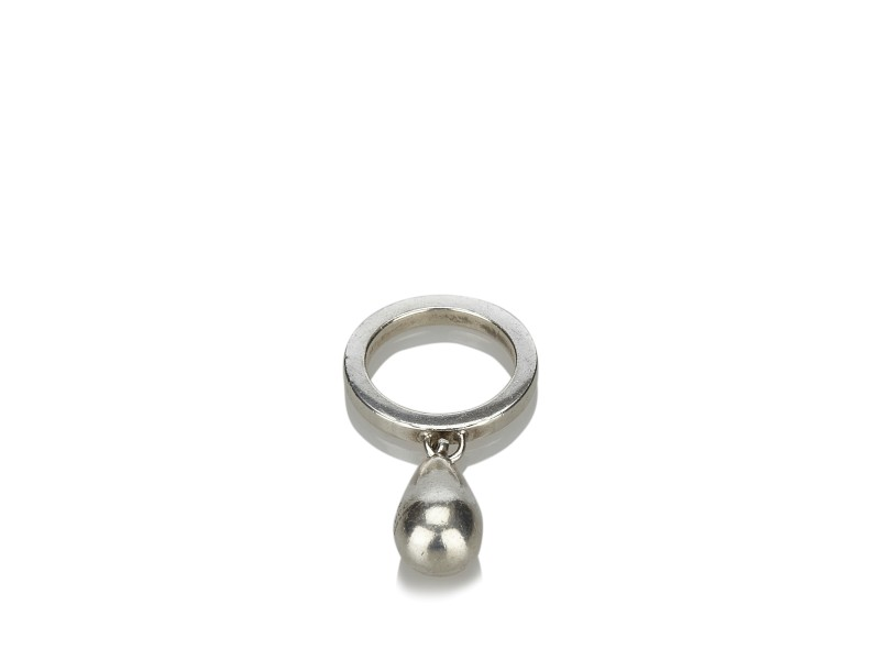 Gucci Sterling Silver Teardrop Ring Size 6.5