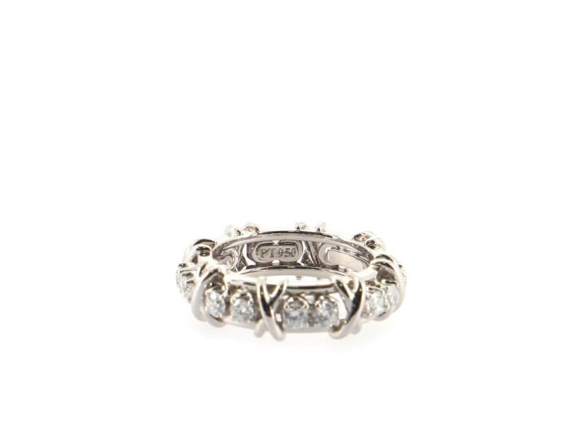 Tiffany & Co. Schlumberger Sixteen Stone Ring Platinum with Diamonds