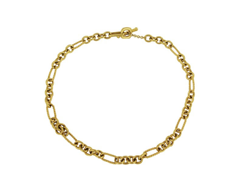 "David Yurman Figaro Necklace in 18k Yellow, 16"""