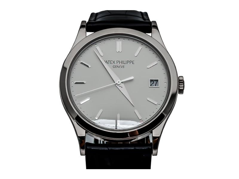 Patek Philippe Calatrava 5296G-010 18K White Gold & Leather 38mm Watch