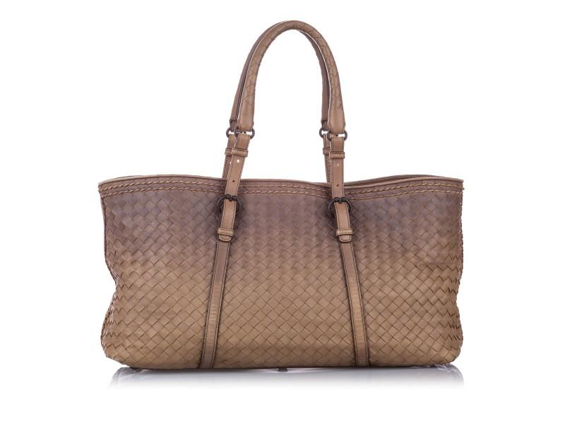 Intrecciato Leather Tote Bag