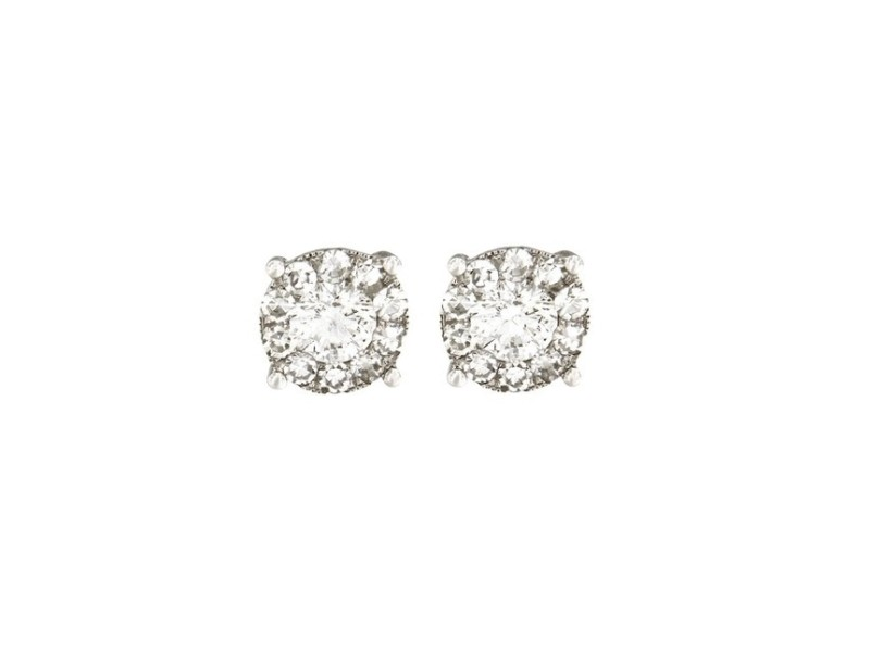 14K White Gold with 0.6ct. Diamond Earrings