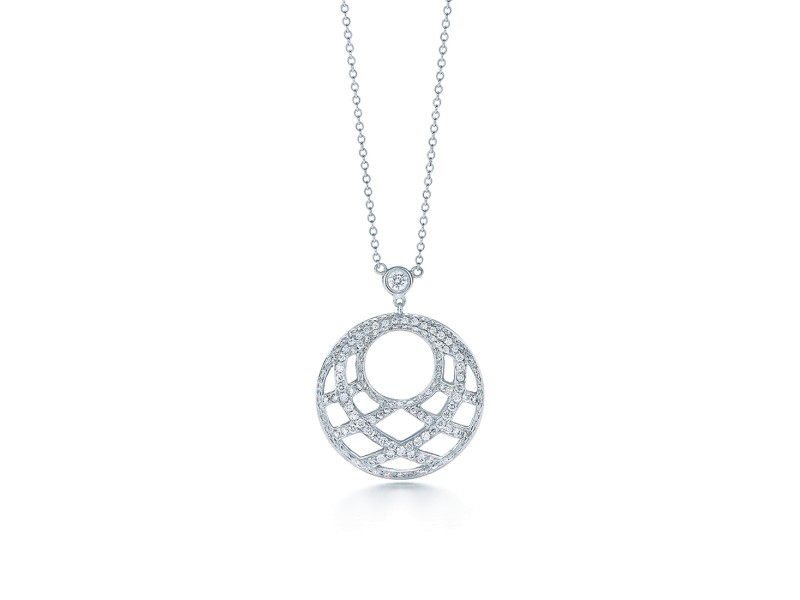 Kwiat 18k White Gold Pendant Necklace From The Jacquard Collection