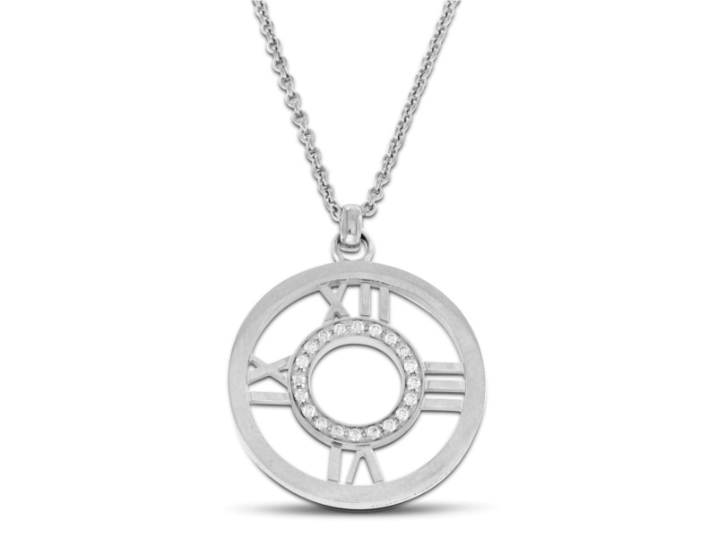 Tiffany & Co.18K White Gold Diamond Necklace