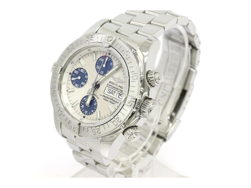Breitling Chrono Super Ocean Stainless Steel Automatic 42mm Mens Watch