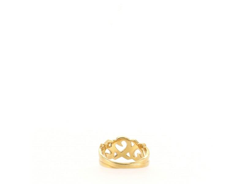 Tiffany & Co. Paloma Picasso Loving Heart Band Ring 18K Yellow Gold 5.25 - 50