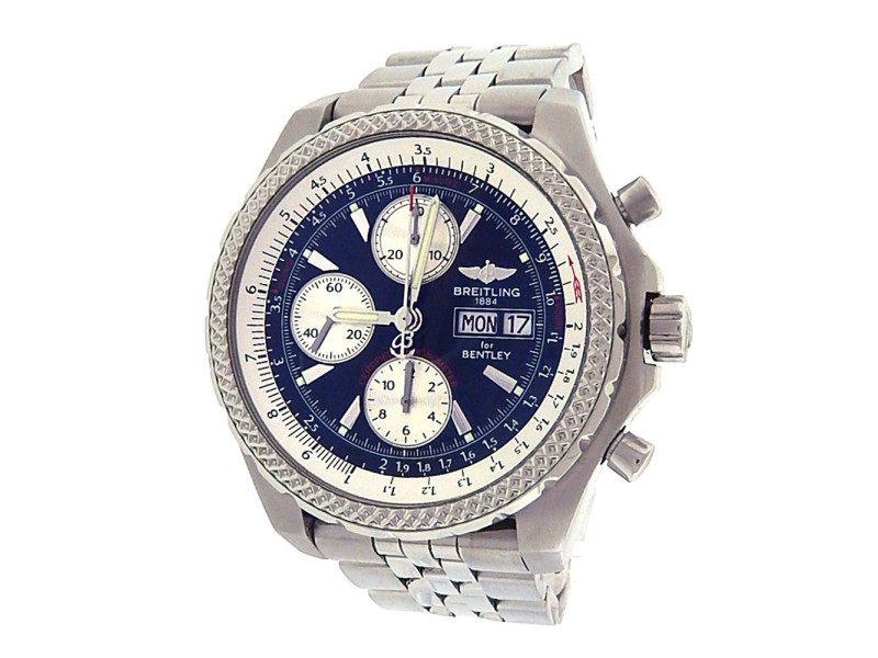 Breitling Bentley GT A13363 Stainless Steel Black Dial Automatic 45mm Men's Watch