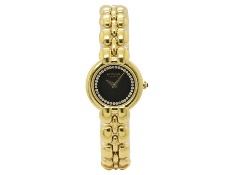 Raymond Weil 5851 18K Gold Plated Quartz Womens Watch