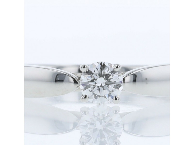 TIFFANY & Co. 950 Platinum Harmony D0.24ct VS1 3EX NONE diamond Ring US 4.75 :LXGoods-223