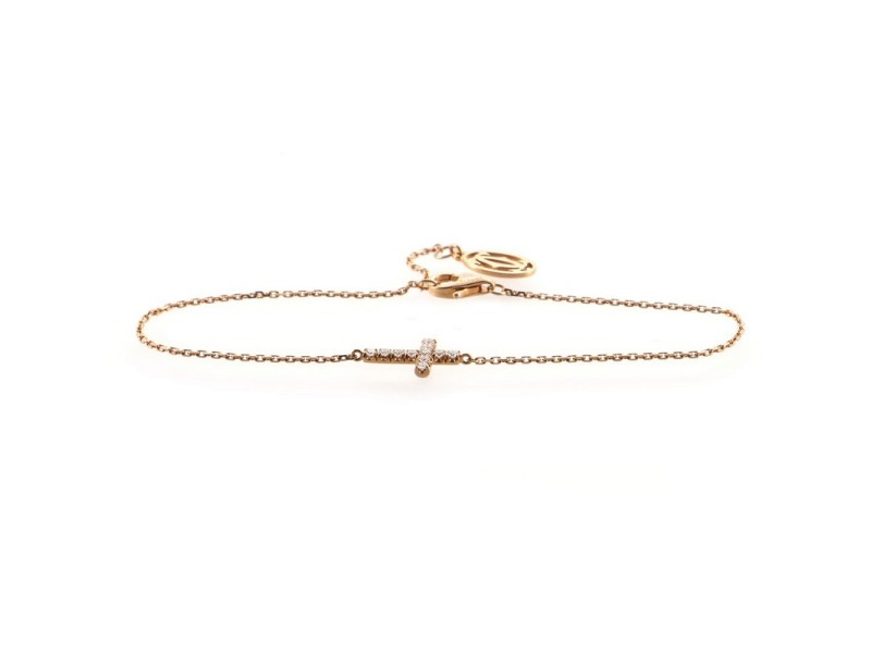 Cartier Symbols Cross Bracelet 18K Rose Gold with Diamond
