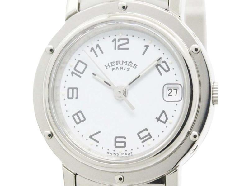 Hermes Clipper Stainless Steel Quartz Womens Watch