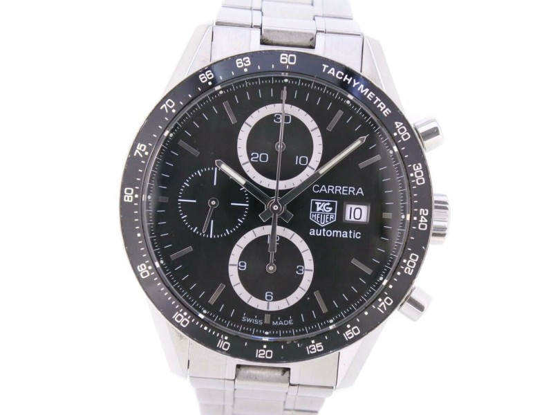 TAG HEUER CV2010-0 Carrera Stainless Steel Watch