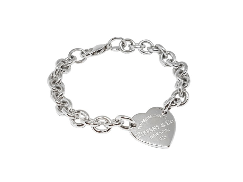 Tiffany Co Sterling Silver Return To Heart Tag Bracelet
