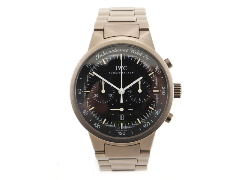 IWC Schaffhausen GST Chronograph Quartz Watch Titanium 37