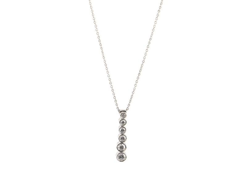 Tiffany & Co. Jazz Graduated Drop Pendant Necklace Platinum and Diamonds