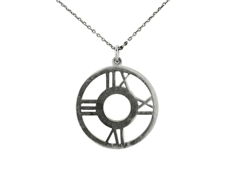TIFFANY STERLING SILVER ATLAS PENDANT