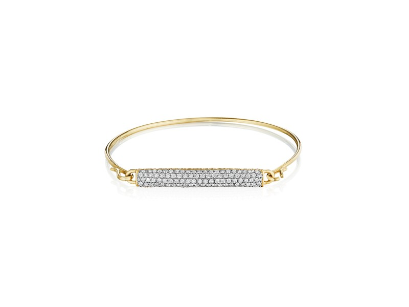 Yellow Gold and Diamond Bar Bracelet
